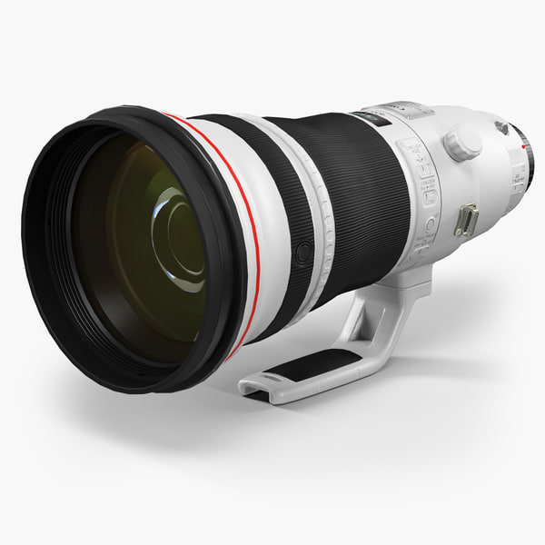 3D low-poly canon ef 400mm