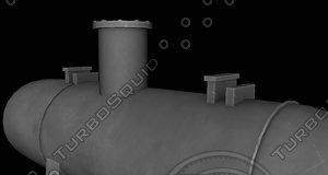 kettle reboiler 3D model