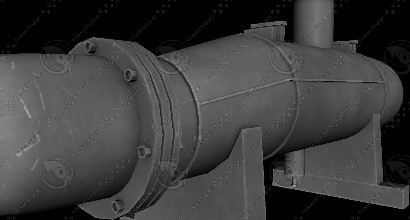 heat exchanger 3D model