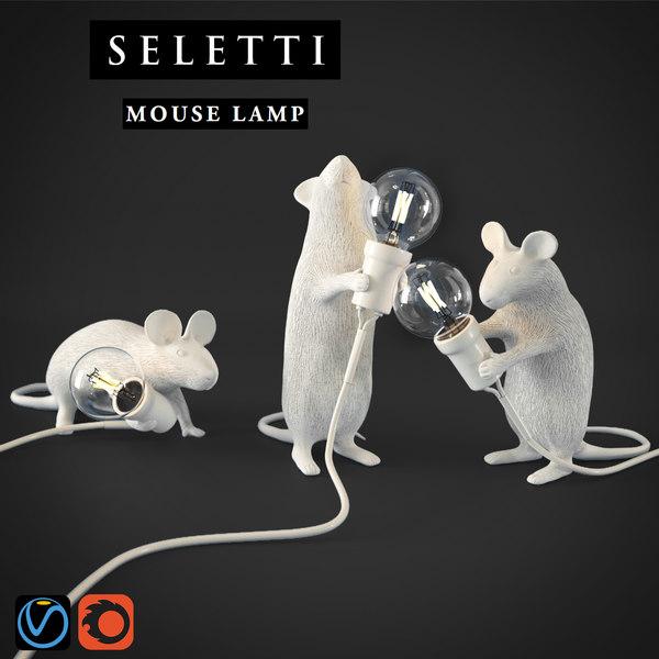 3D seletti mouse lamp