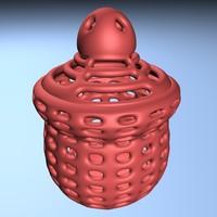 3D model incense burner