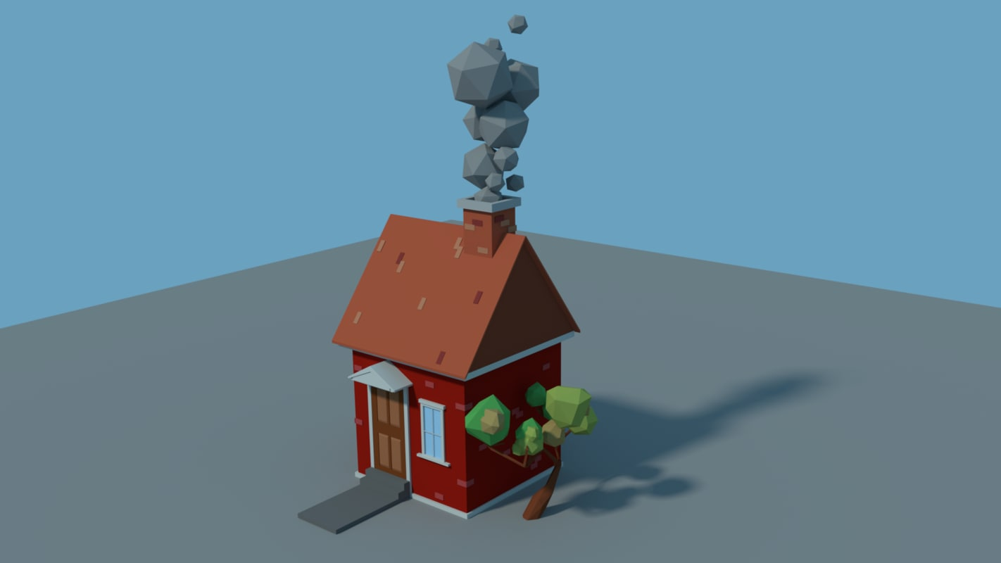 house bricks smoke 3D