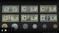 united states currency 3D model