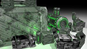 3D model engines assets set