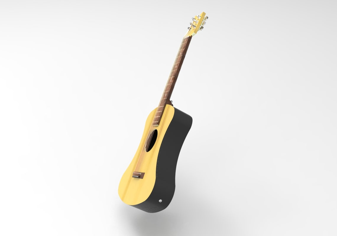 3D guitar parametric model
