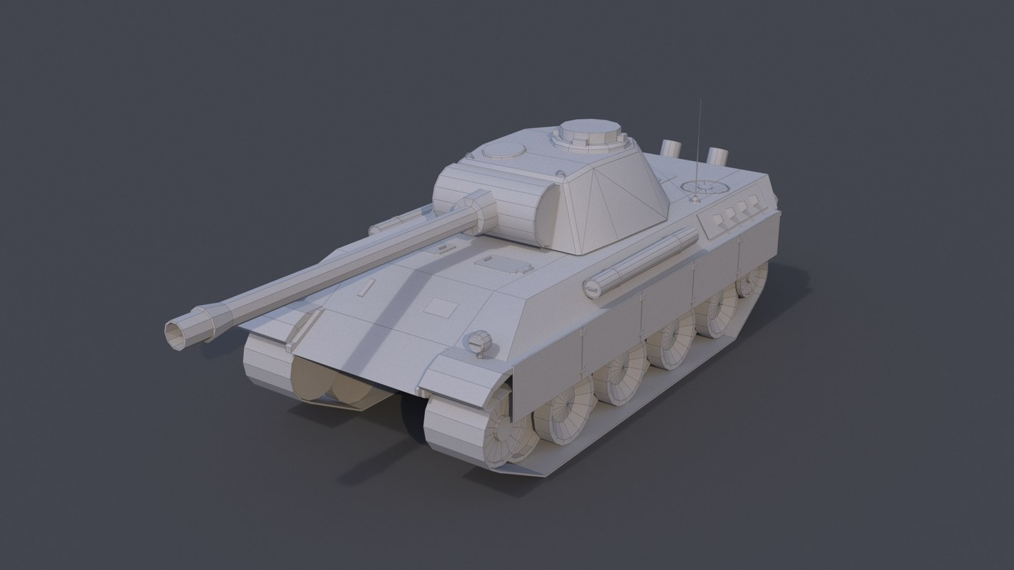 tank panther pzkpfw ausf 3D
