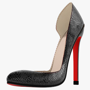 3D model crocodile shoes