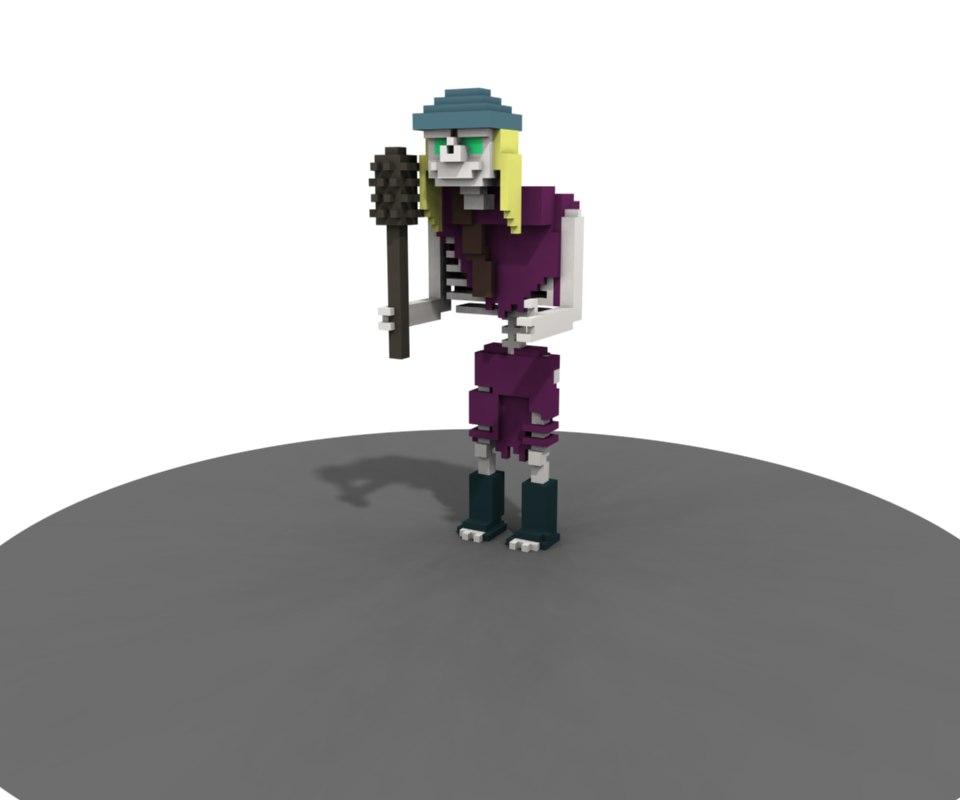 skeleton warrior model