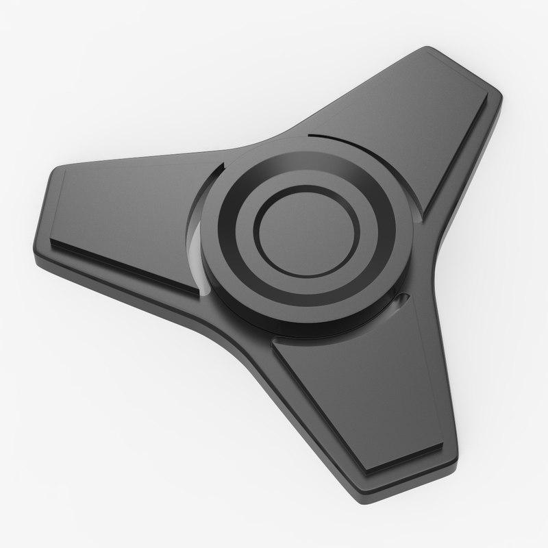 3D tri spinner fidget model