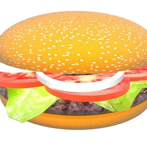 3D model spinning hamburger