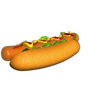 spinning hotdog 3D model