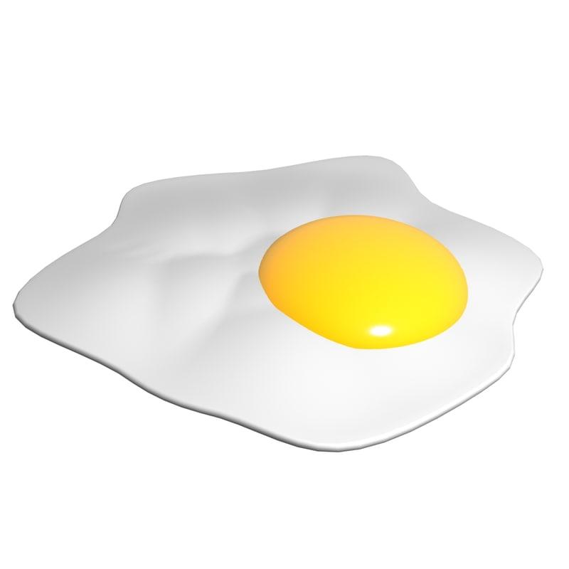 3D fried egg