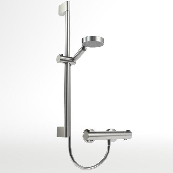 shower set 3D model
