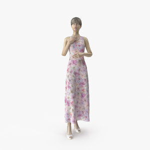 3D model showroom mannequin 036 pose