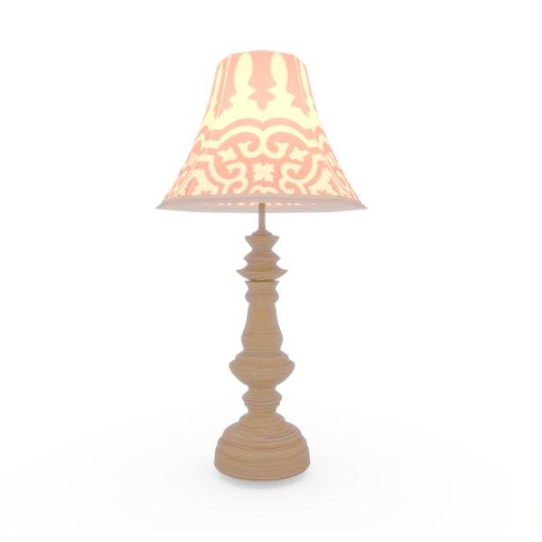exotic design table lamp 3D model