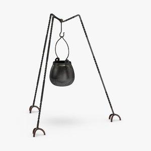 3D hanging-cauldron