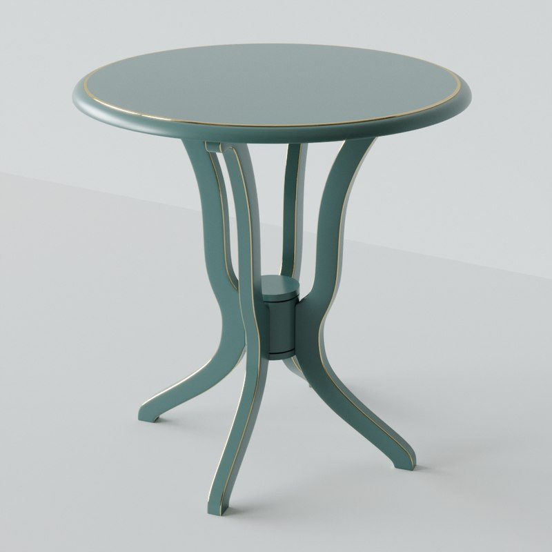 daffodil antique accent table 3D