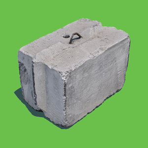 concrete barrier block model