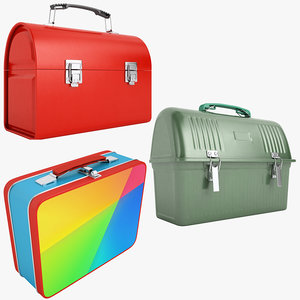 3D metal lunch box 01 model