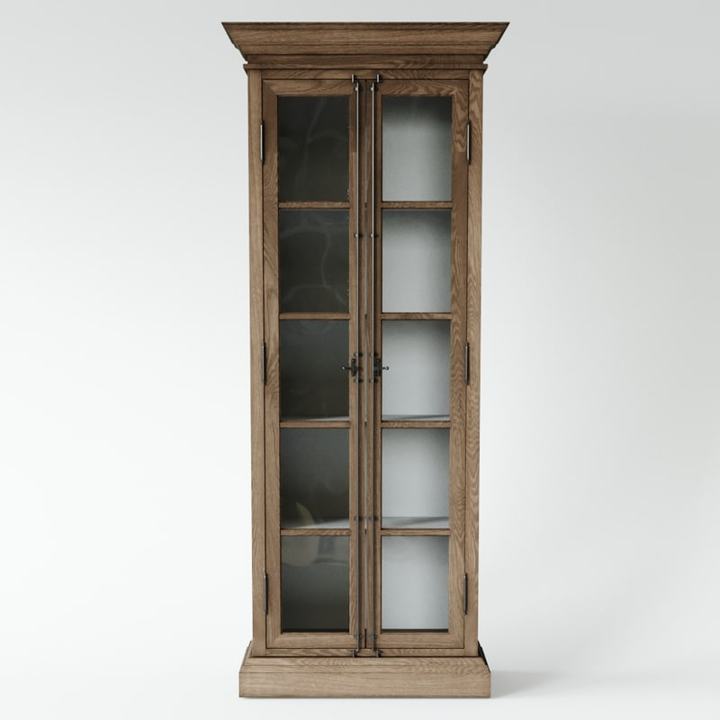 french casement cabinet 3D model