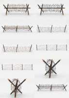 barbed wire obstacles 3D model