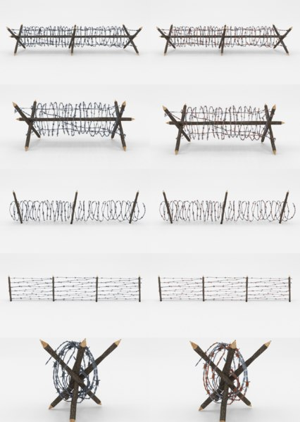3D barbed wire obstacles