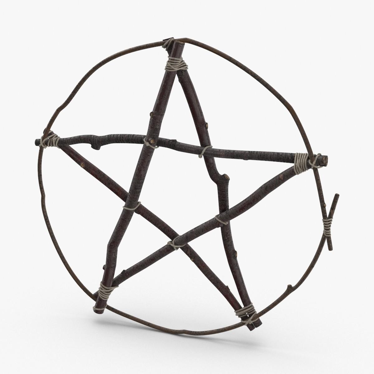 3D twig-pentagram model