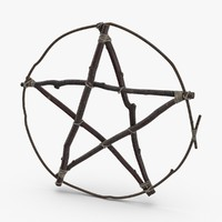 3D twig-pentagram model