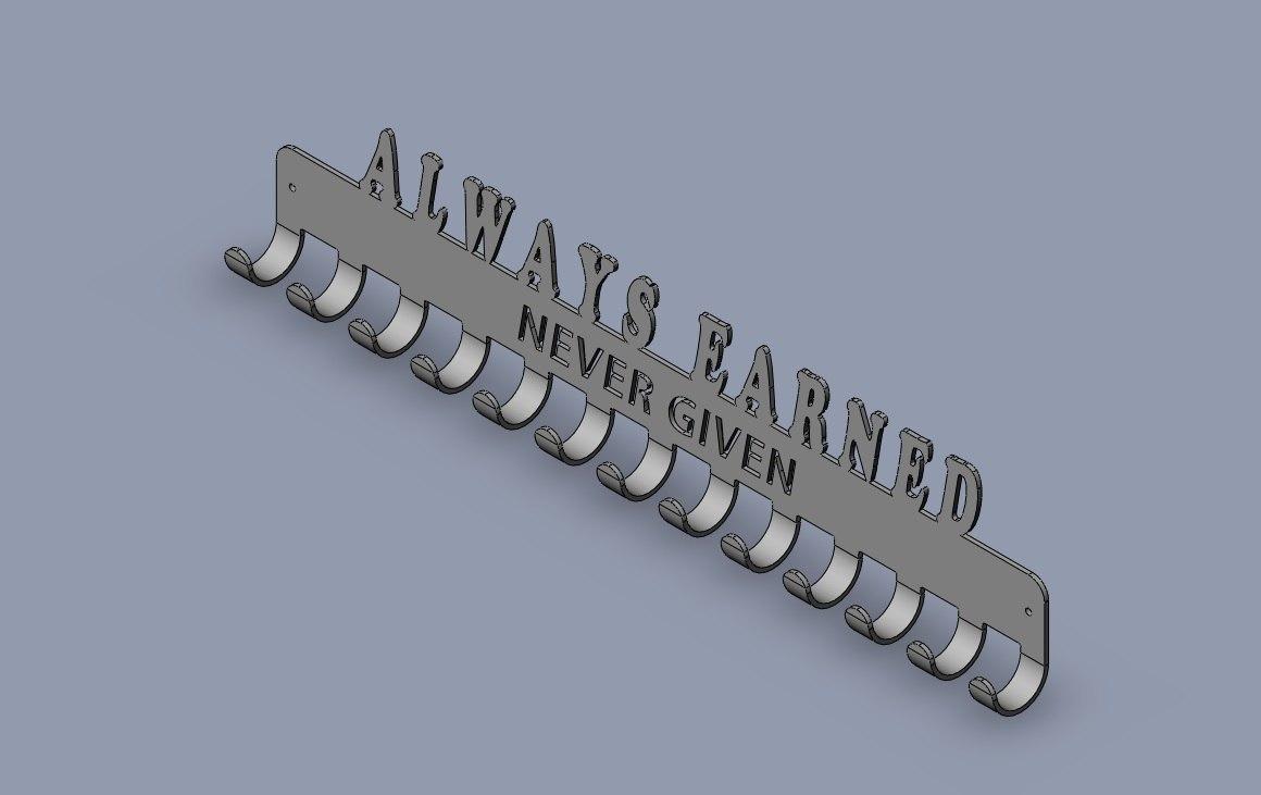 3D hanger medals