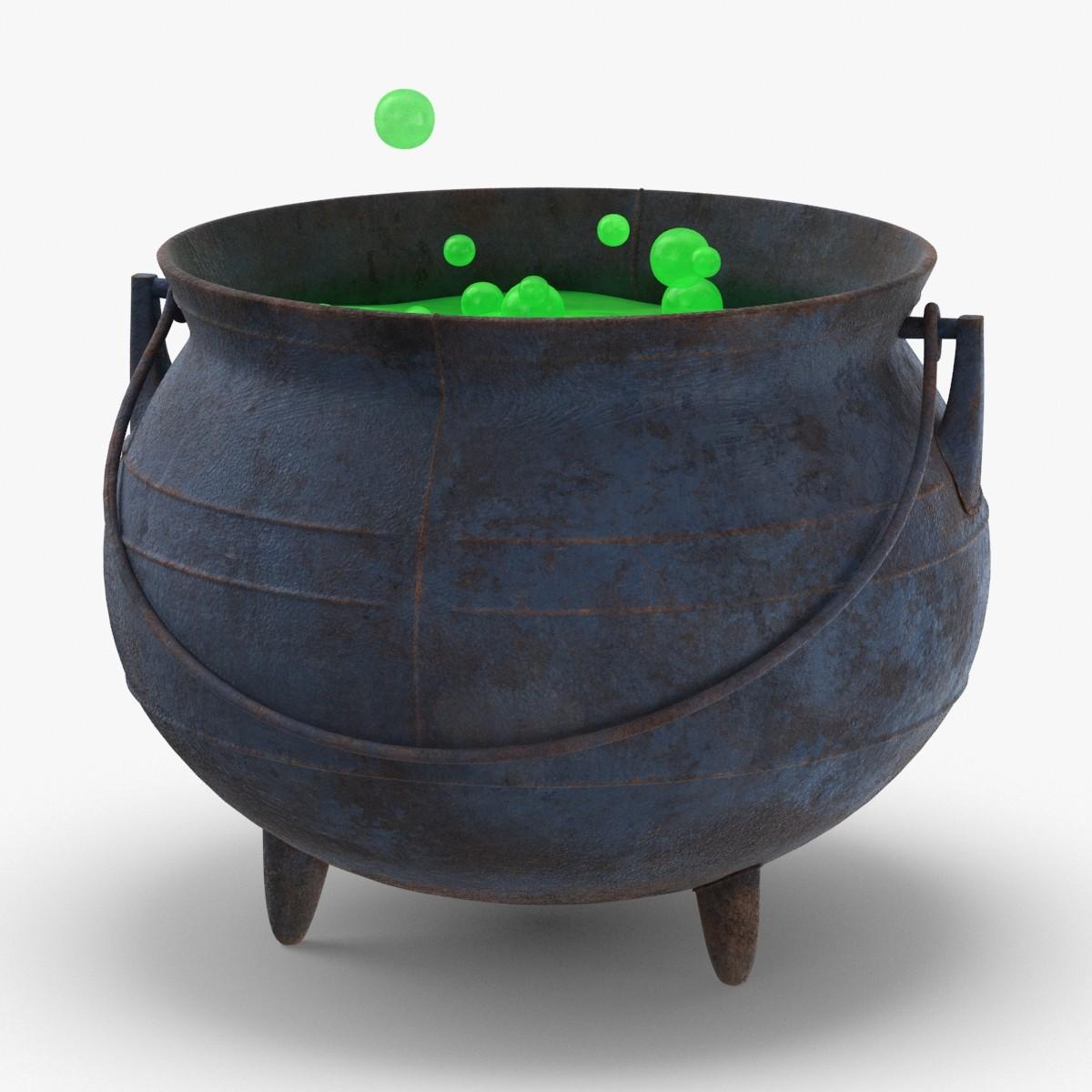 witch-cauldron---green 3D