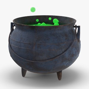 witch-cauldron---green 3D