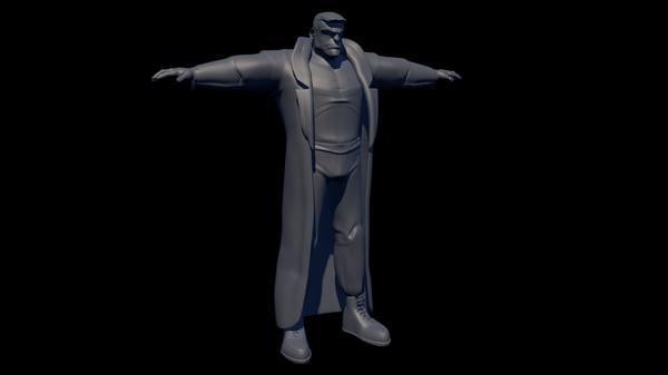 male human man 3D model