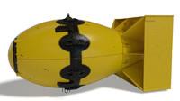 3D model fatman bomb