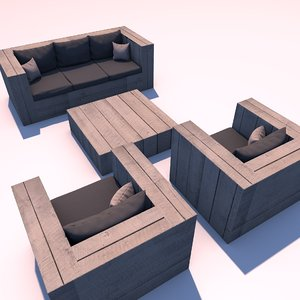lounge set 3D model
