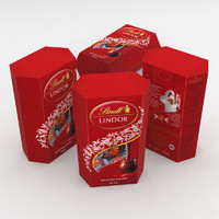 3D lindt box red 200g