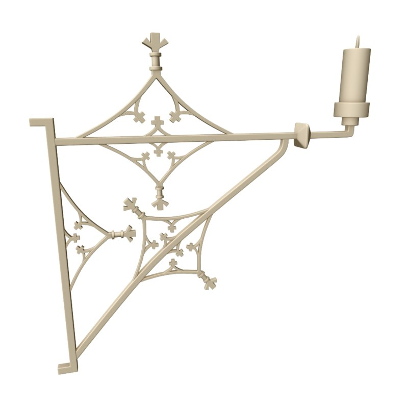 realistic candle stand 3D model