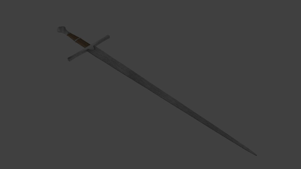 medieval long sword 3D