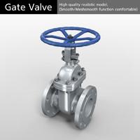 3D gate valve model