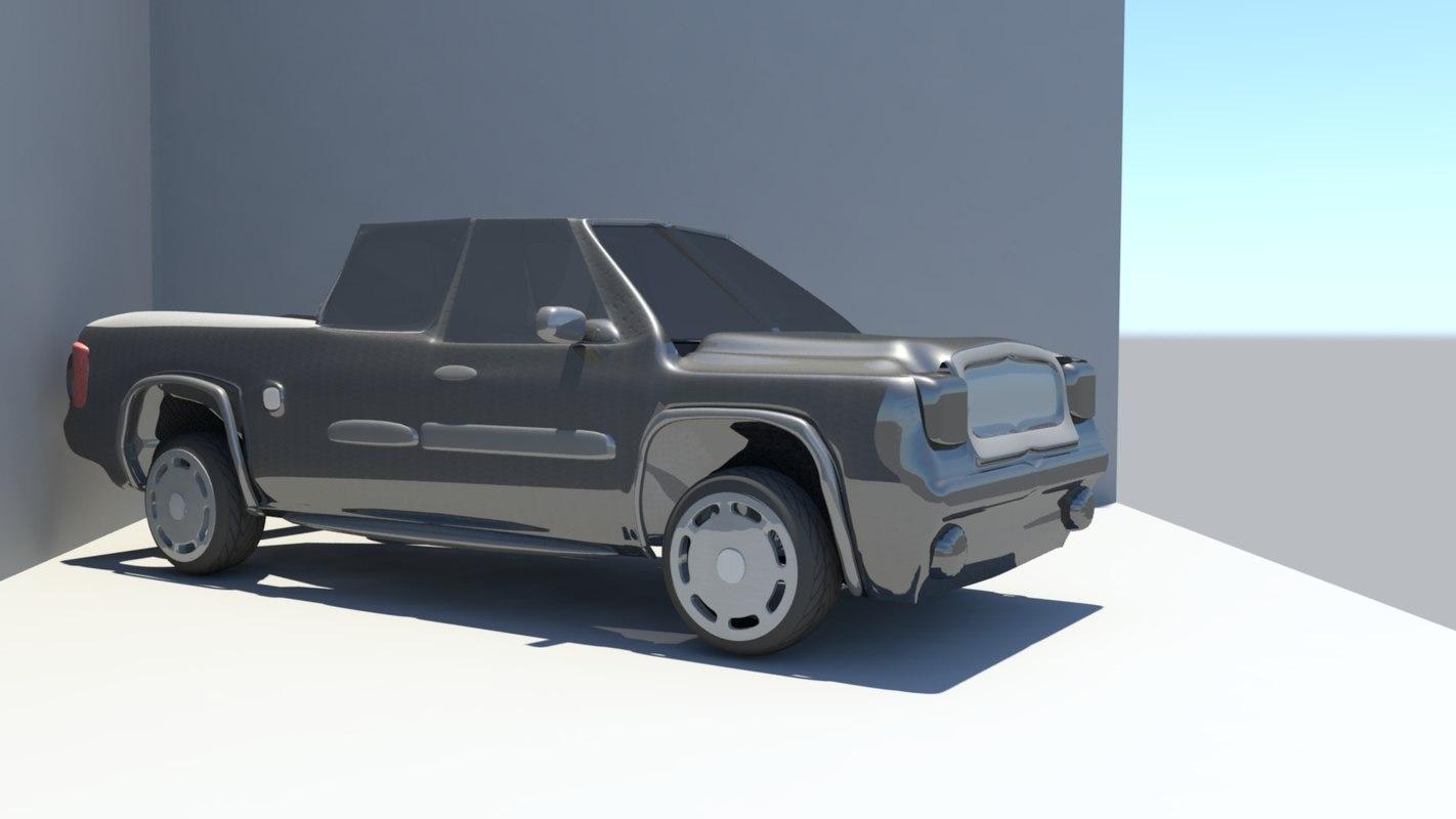 3D model gmc truck simple