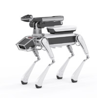 boston dynamics dog robot 3d model vray