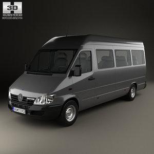 3D mercedes-benz sprinter passenger model