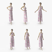 showroom mannequin 036 poses 3D model