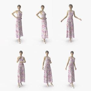showroom mannequin 036 poses 3D model