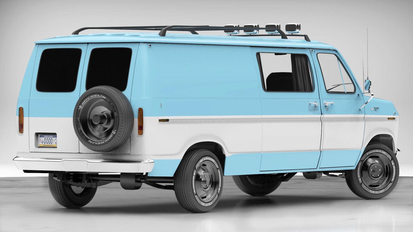 Econoline Van 3d Model Turbosquid 1155550 1980 Ford Cargo