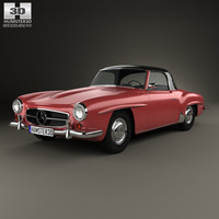 3D model mercedes-benz sl-class sl