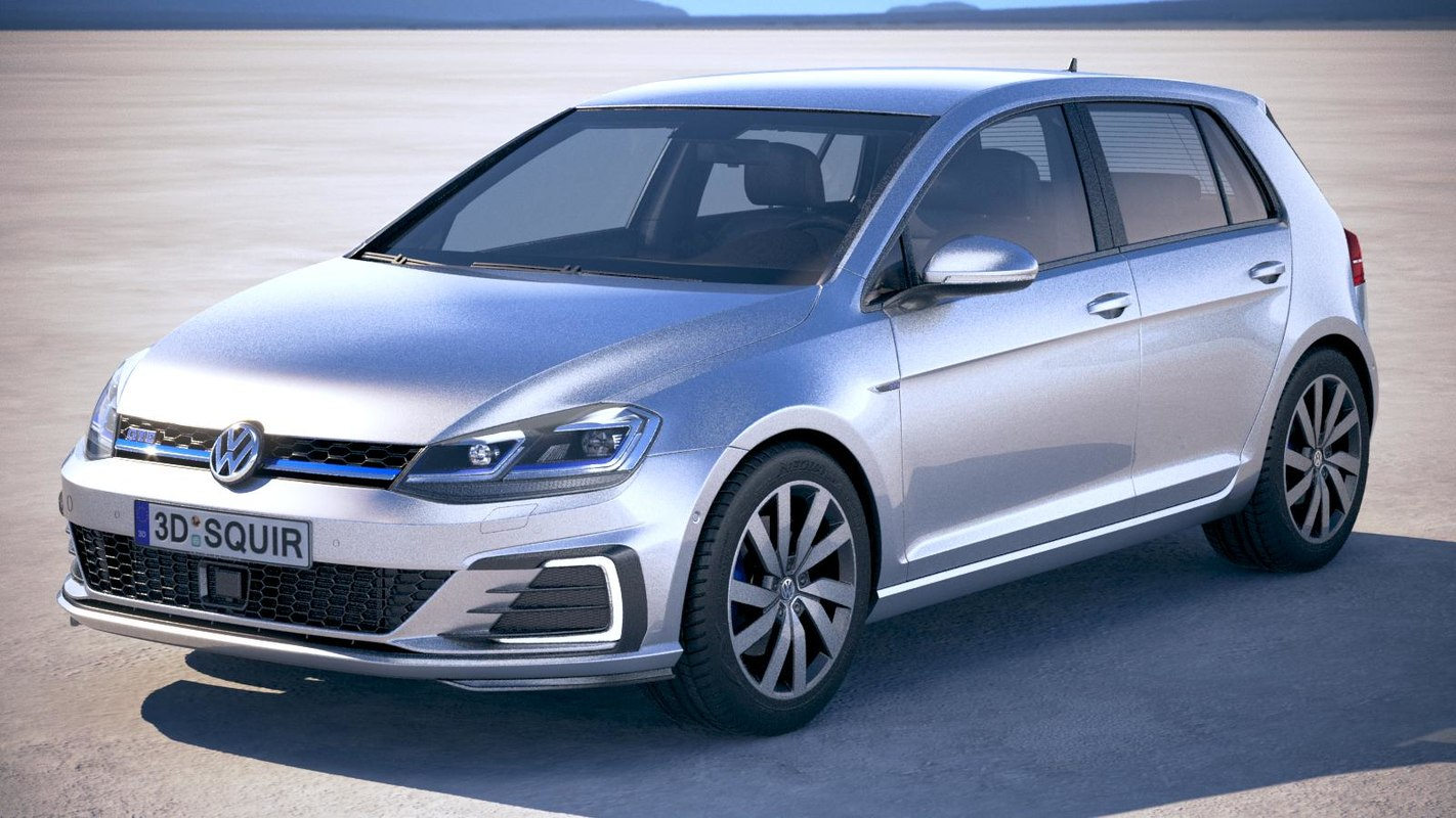 3D volkswagen golf gte model
