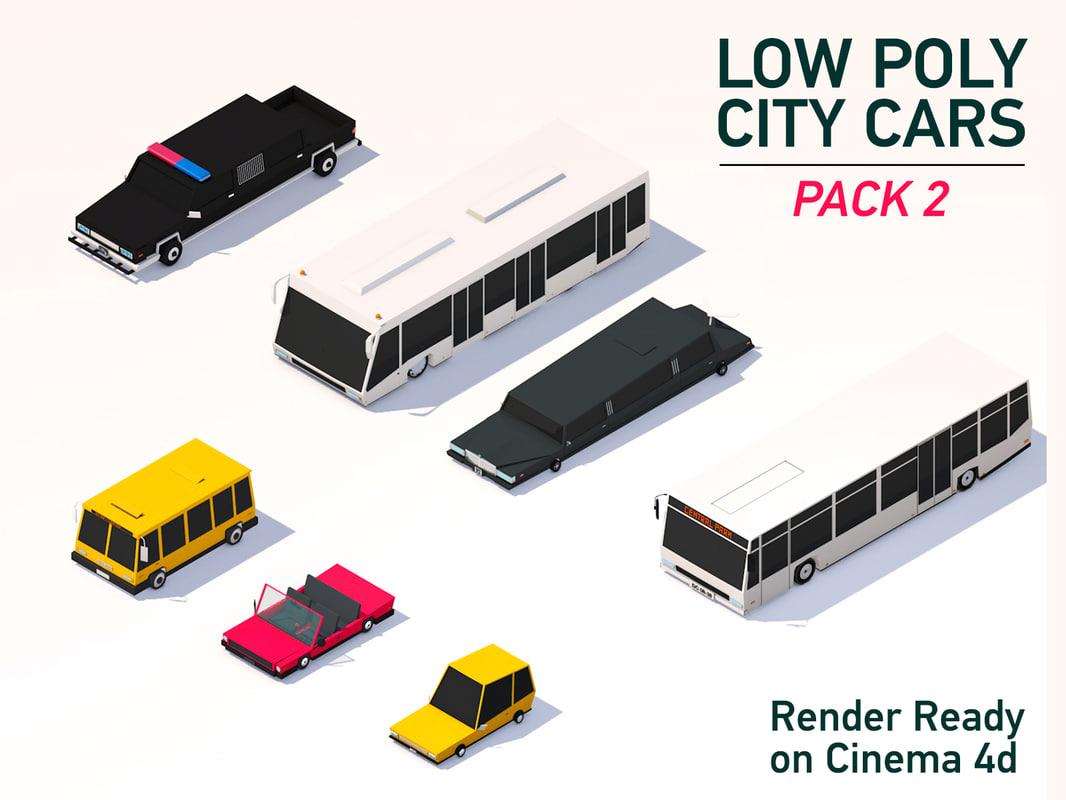 city cars 3D model