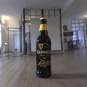 3D model guinness bottle