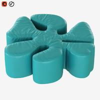 pouf margaret 3D model