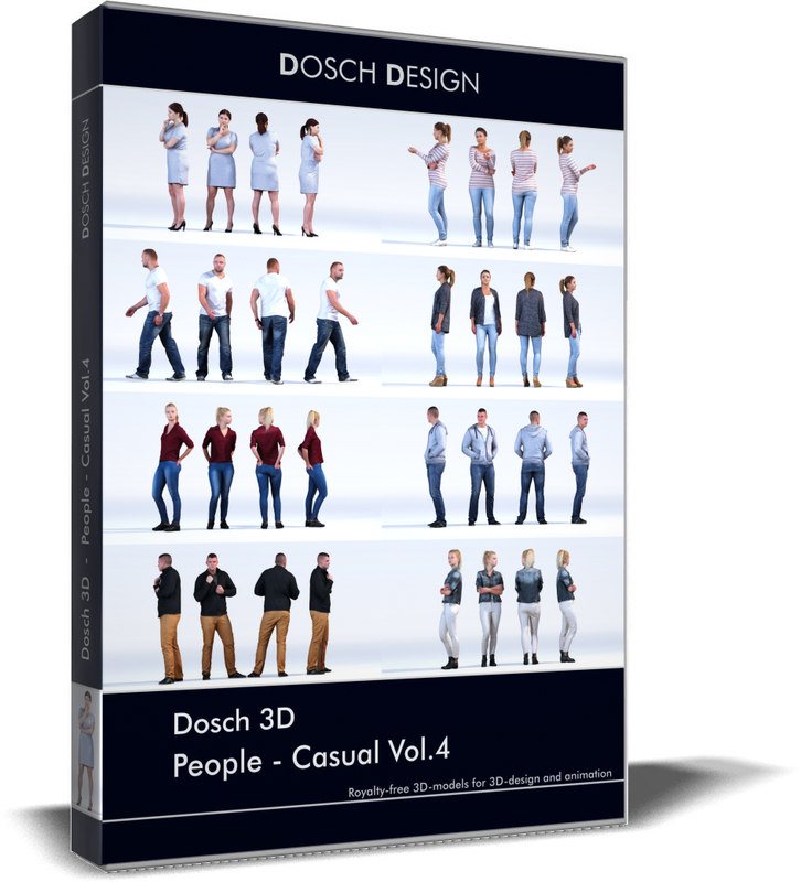 people - casual 3D model